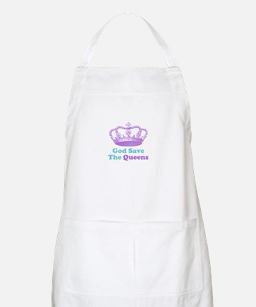 god save the queens (purple/t Apron