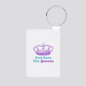 god save the queens (purple/t Aluminum Photo Keych