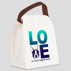 Love is a four legged word- Bosto Canvas Lunch Bag