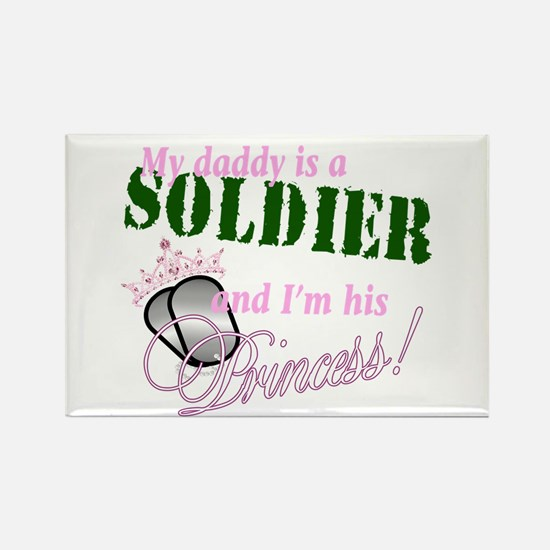 Soldier's Princess Rectangle Magnet