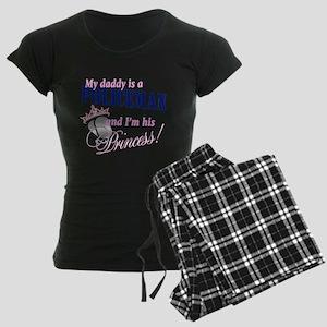 Policeman's Princess Women's Dark Pajamas