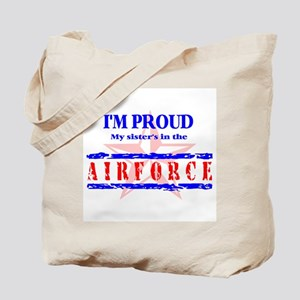 Air Force Proud Sister Tote Bag