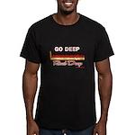 GO DEEP - Men's Fitted T-Shirt (dark)