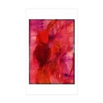 Pink Leaves Sticker (Rectangle 10 pk)