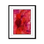 Pink Leaves Framed Panel Print