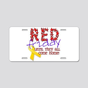 Red Friday Aluminum License Plate