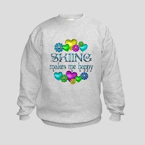 Skiing Happiness Kids Sweatshirt