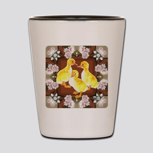 ducklings and Roses Shot Glass