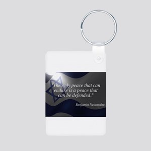 Israel Aluminum Photo Keychain
