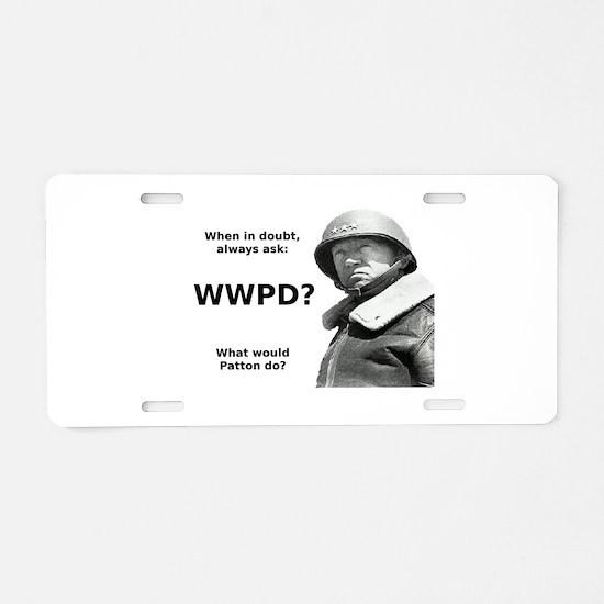 Patton Aluminum License Plate