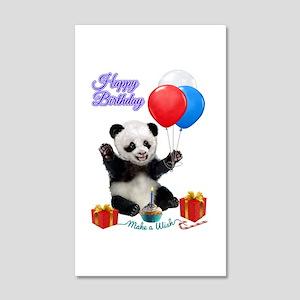 Panda's Happy Birthday Wish Wall Decal