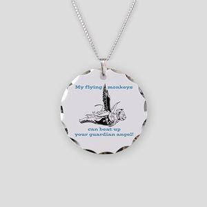 Flying Monkeys Necklace Circle Charm