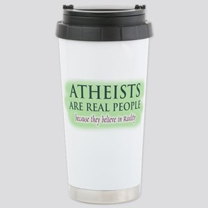 Atheists are Real People Stainless Steel Travel Mu