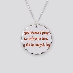 Why Invent Logic? Necklace Circle Charm
