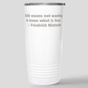 Faith Means Stainless Steel Travel Mug