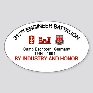 317th Engineer, Camp Eschborn Sticker (Oval)