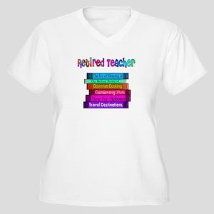Retired Teacher Women's Plus Size V-Neck T-Shirt