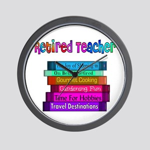 Retired Teacher Wall Clock