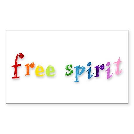 Free Spirit - Rectangle Sticker