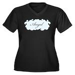 Angel Women's Plus Size V-Neck Dark T-Shirt