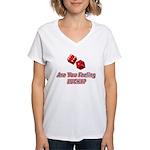 Are you feeling lucky? Women's V-Neck T-Shirt