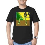 Yellow Green (no text) Men's Fitted T-Shirt (dark)