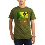 Yellow Green (no text) Organic Men's T-Shirt (dark