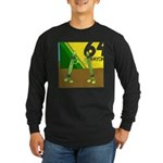 Yellow Green (no text) Long Sleeve Dark T-Shirt