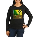 Yellow Green (no text) Women's Long Sleeve Dark T-