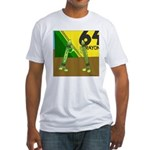 Yellow Green (no text) Fitted T-Shirt