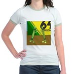 Yellow Green (no text) Jr. Ringer T-Shirt