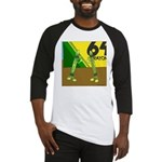 Yellow Green (no text) Baseball Jersey