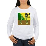Yellow Green (no text) Women's Long Sleeve T-Shirt