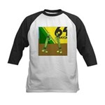Yellow Green (no text) Kids Baseball Jersey