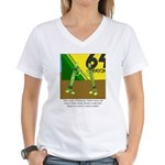Yellow Green Women's V-Neck T-Shirt