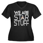 SAGANISMS Women's Plus Size V-Neck Dark T-Shirt