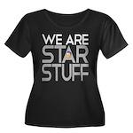 SAGANISMS Women's Plus Size Scoop Neck Dark T-Shir