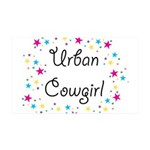 Urban Cowgirl 38.5 x 24.5 Wall Peel