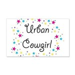 Urban Cowgirl 22x14 Wall Peel