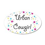 Urban Cowgirl 38.5 x 24.5 Oval Wall Peel