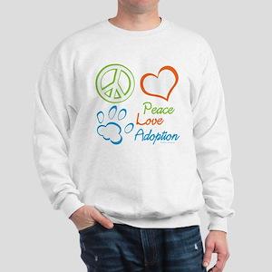 Peace Love Adoption Summer Sweatshirt