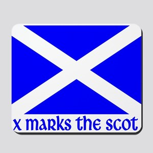 X Marks the Scot Mousepad