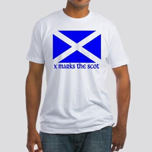 X Marks the Scot Fitted T-Shirt