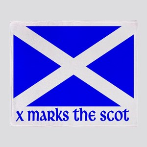 X Marks the Scot Throw Blanket