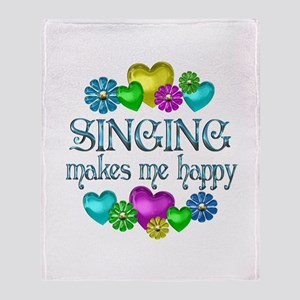 Singing Happiness Throw Blanket