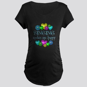 Singing Happiness Maternity Dark T-Shirt
