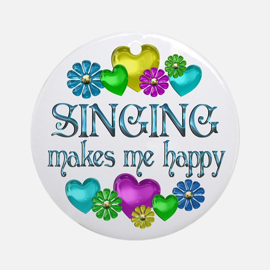 Singing Happiness Ornament (Round)