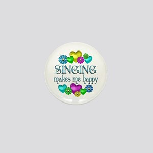 Singing Happiness Mini Button