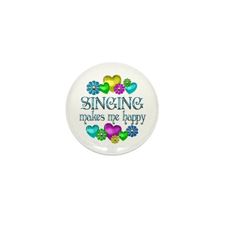 Singing Happiness Mini Button (10 pack)