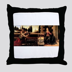 Da Vinci's Annunciation Throw Pillow